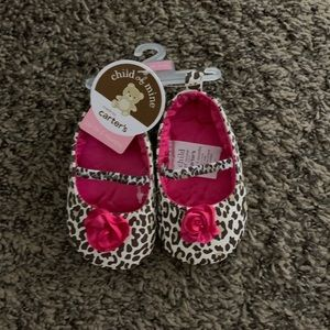 NWT Carter's Leopard Flower Shoes